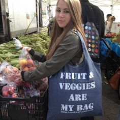 Fruits/Veggies Vegan Tote Bag by LoisEastlund on Opensky