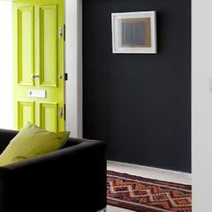 A neon yellow door (plus lots of other fun neon accents)