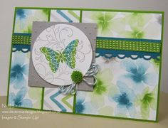 Dexterous Designs: Creative Elements Meets Stampin' Up Watercolour Wonder DSP