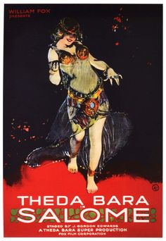Theatrical poster for the 1918 silent film Salome starring Theda Bara.