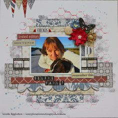 #papercraft #scrapbook #layout Lou's World: More Teresa Collins Far & Away for All About Scrapbooks