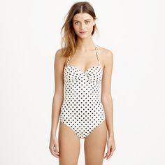 Dotty underwire one-piece swimsuit - It's Sunny Somewhere - Women - J.Crew
