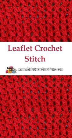 Leaflet crochet stitch