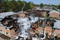 Miracle of US jet crash  A building is flattened but no-one is killed