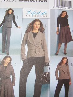 Butterick B5257 Sewing Pattern  Women's Complete by WitsEndDesign, $10.00