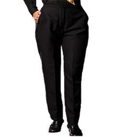 7019cdae57e0 Ladies Flat Front Dress Pant Fashion Pants