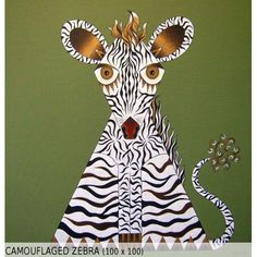Camouflaged Zebra (100x100)