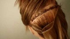 How To Sew On A Track Hair Extensions, via YouTube.