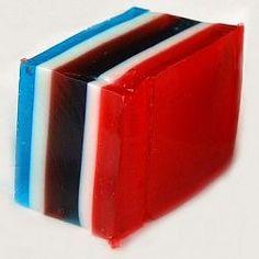 Red. White & Blue Jello.