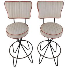 Frederick Weinberg Hairpin Stools | From a unique collection of antique and modern stools at https://www.1stdibs.com/furniture/seating/stools/
