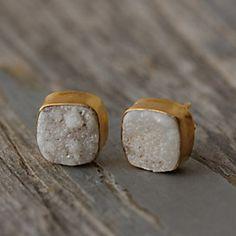 Druzy Stud Earrings #anthroregistry