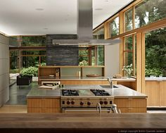 Mid-Century modern home. Love the open floor plan and the melding of indoors and outdoors. Perfect