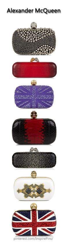 ALEXANDER MCQUEEN                                                                                                 Skull Clutches | The House of Beccaria                                                                                                 ❤✤HAND'me.the'BAG✤❤