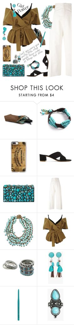 """My Power Look"" by petalp ❤ liked on Polyvore featuring Casetify, Mansur Gavriel, Prada, Jacquemus, Miriam Haskell, Acler, Chico's, NYX, Boohoo and ootd"
