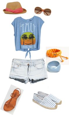 Lazy Beach Day, created by livstacy on Polyvore