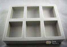 Minimalist Series M1  / 6 in 1 / Silicone Soap Mold ( Soap Republic )