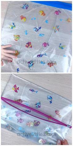 Baby Learning Activities, Sensory Activities Toddlers, Infant Activities, Alphabet Activities, Baby Sensory Play, Baby Play, Sensory Board For Babies, Baby Sensory Bags, Toddler Sensory Bins