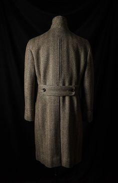 B&TAILOR Polo Coat in Fox Bros Tweed