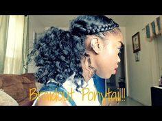 Natural Hair - Braidout Ponytail Tutorial!! - YouTube