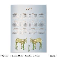 Shop Baby Lambs 2017 Animal Nature Calendar Poster created by Bebops. Baby Lamb, T Baby, Calendar, Place Card Holders, Lambs, Nature, Poster, Animals, Artists