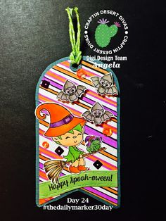 Halloween Tag with Craftin Desert Divas Frightfully Sweet Stamp Set