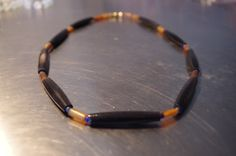 Lapis, and Buffalo and Cow Horn Beads Necklace