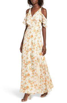 8bd59a005f4 Privacy Please Acme Off the Shoulder Wrap Maxi Dress Maxi Shirt Dress