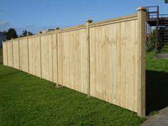 Inset pailing cap rail fence