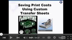 Saving Money With Custom Transfer Sheets.
