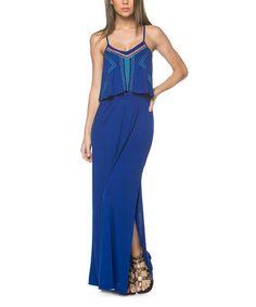 Loving this Cobalt Geometric Maxi Dress on #zulily! #zulilyfinds