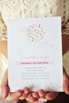 Cute Sprinkle Themed Invitations from @hello naomi and @Leanne Ambrogio | Sweet Style. See the rest of this beautiful gallery: http://www.stylemepretty.com/living/gallery/picture/1222358/