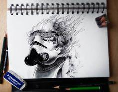 Some Love for PEZ Artwork? Sketchbook Drawings, Drawing Sketches, Pencil Drawings, Art Drawings, Sketching, Sketchbook Ideas, Disney Drawings, Tattoo Sketches, Drawing Art