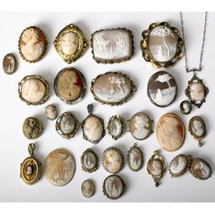Collection of cameo jewelry, circa 1870-1930 (sold at auction in 2009)
