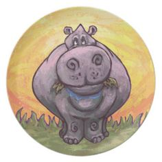 Hippopotamus Gifts & Accessories Plates
