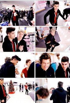 The commercial! Look at zayn's face top right corner ;)