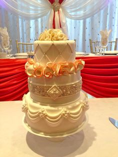 coral wedding cakes | Coral Jeweled Wedding Cake by Sweetest | Cake Decorating Ideas