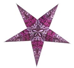 """Purple Rain Star Lantern by Asian Import Store, Inc.. $7.95. (All star lanterns sold without cord or battery terminal, cord or battery terminal must be purchased separately). These are the unique star lamps which you have seen on MTV's unplugged concert series or have seen decorating concert stages.. Dimensions: 24"""". This star lantern is purple with beautiful cutouts on the lantern.. The Purple Rain Star Lanterns are made with a premium paper and manufactured i..."""