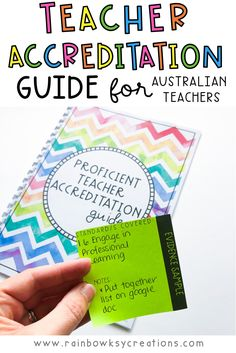 Wondering where to start with your Australian teacher accreditation? This document is the help you need! Full of checklists, easy to understand information, and evidence examples to get you started. AITSL aligned and suitable for Aussie Teachers. #rainbowskycreations How To Become, How To Get, How To Plan, Rainbow Sky, Becoming A Teacher, Australian Curriculum, New Teachers, Getting Organized, Assessment