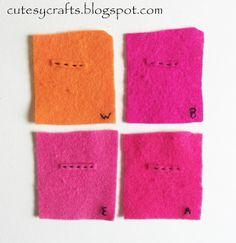 Cutesy Crafts: Felt