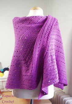 Espacio Crochet: Toquilla de crochet / crochet shawl, pattern