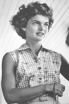 "natural beauty - Jacqueline Bouvier (she looks like ""Black Jack"", her daddy.)"