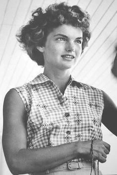 "natural beauty - Jacqueline Bouvier (she looks like ""Black Jack"", her daddy.)"