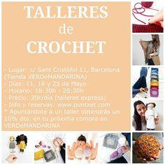 La semana que viene empiezan mis TALLERES DE GANCHILLO en @verdemandarina  Tenéis de varios niveles así que no los dejéis escapar!!!!!  #blog #blogger  #puntxet #taller #talleres #ganxet #ganchillo #crochet #crocheteando #instacrochet #knit #knitting #iloveknit #iloveknitting #knitlover #instaknit  #inlove #handmade #handmadewithlove #DIY #hechoamano #handmadeisbetter #business #littlebusiness #working #knittersofinstagram #knitstagram  #manualidades #manualitats by irenefernandez.puntxet