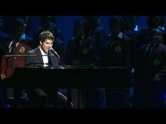 "Darren performing ""Not Alone"" with the Walt Whitman's Soul Children of Chicago at the Kid's Inaugural Concert 2013 ♥    Darren, you supermegafoxyawesomehot dapper hobbit.    Lyrics: (although if you're a Starkid, you shouldn't need these ;) )    I've been alone  Surrounded by darkness  I've seen how heartless  The world can be    I've seen you crying  You f..."