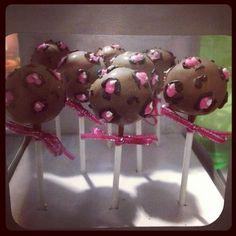 Girly birthday party... Leopard print cake pops heathersimplysweet@wix.com