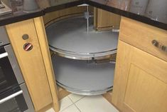 A working Revo 90 kitchen corner base unit,