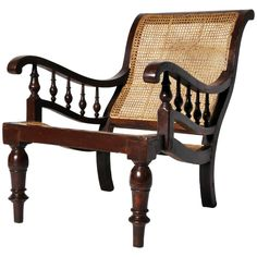 British Colonial Planter's Chair | From a unique collection of antique and modern furniture at https://www.1stdibs.com/furniture/asian-art-furniture/furniture/