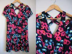 Floral Romper Vintage Shorts Grunge 90s