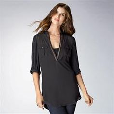 Mixed Media Safari Shirt in Women's