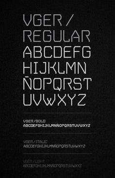 V.GER Grotesque by Mateo Rios, via Behance. Free Font